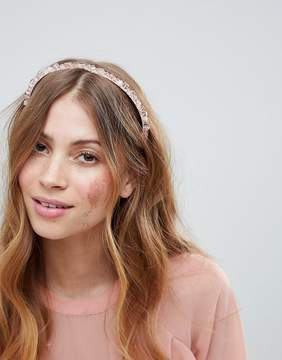 Asos DESIGN Crystal Bead Bridesmaid Headband