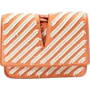 Jil Sander Orange Leather Clutch Bag