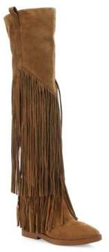 Ash Gipsy Tall Fringed Suede Boots