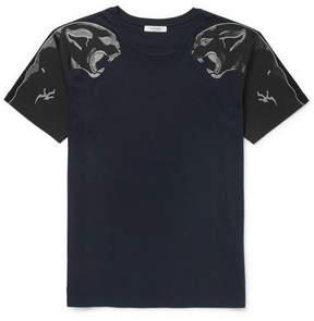 Valentino Slim-Fit Panther-Print Cotton-Jersey T-Shirt