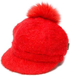 Borsalino pompom newsboy cap