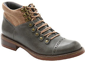 Kensie Lace-up Leather Ankle Boots - Sissel