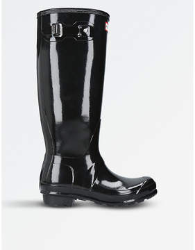 Hunter Ladies Black Classic Patent High-Leg Rain Boots