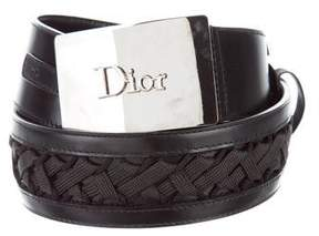 Christian Dior Leather Logo Belt