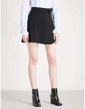 Claudie Pierlot Bow-detailed high-rise crepe mini skirt