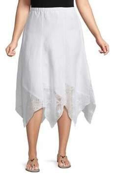Context Plus Lace-Trim Skirt