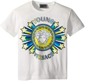 Versace Kids Short Sleeve Medusa Logo Graphic Tee Boy's T Shirt