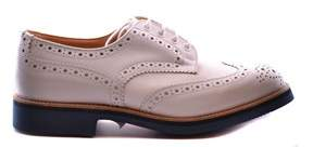 Tricker's Men's White Leather Lace-up Shoes.