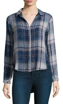 Bella Dahl Plaid Button-Front Shirt