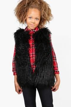 boohoo Girls Shaggy Faux Fur Gilet