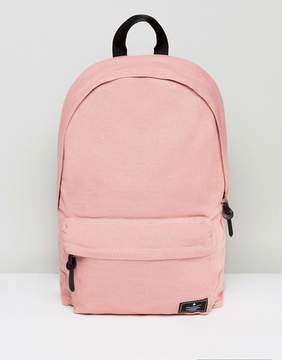Asos Backpack In Pink Canvas