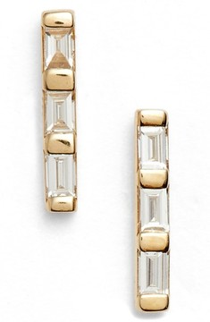 Ef Collection Women's Diamond Bar Stud Earrings