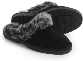 Sporto Open-Back Slippers - Suede (For Women)