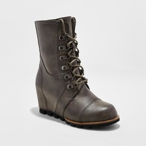 Merona Women's Marisol Lace Up Wedge Hiker Boots