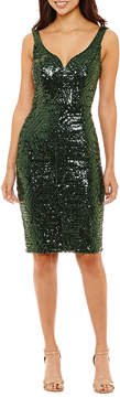 Bisou Bisou Sleeveless Sequin Sheath