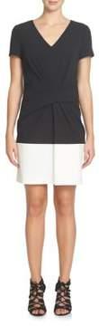 Cynthia Steffe Short-Sleeve Colorblocked Sheath Dress