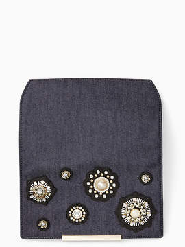 Kate Spade Make it mine denim pearl flap - PORT BLUE - STYLE