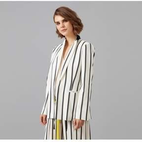 Amanda Wakeley   Ribbon Stripe Jacket   L   White