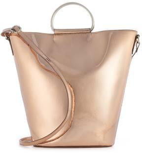 T-Shirt & Jeans Metallic Ring Crossbody Bucket Bag