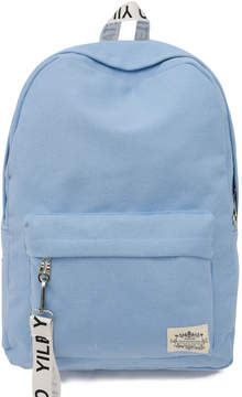 Shein Pocket Front Patch Detail Canvas Backpack