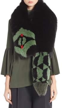 Women's Fendi Puzzle Genuine Fox Fur Stole