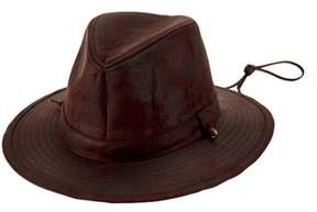 San Diego Hat Company Men's Faux Suede Fedora With Chin Cord Cth8053.