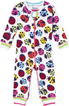 Hatley White Rainbow Ladybirds Mini Coverall