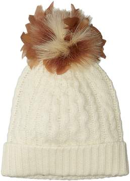 Polo Ralph Lauren Feather Pom Cashmere Blend Hat Caps