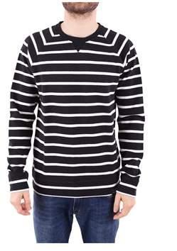 Scotch & Soda Men's White/black Cotton Sweatshirt.