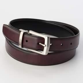 Croft & Barrow Men's Burgundy Reversible Belt