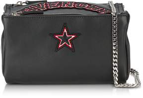 Givenchy Pandora Chain Black Leather Crossbody Bag