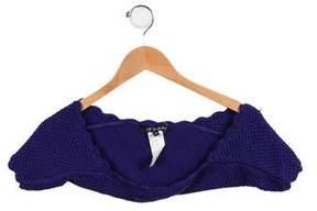 Lili Gaufrette Girls' Scalloped Knit Shrug
