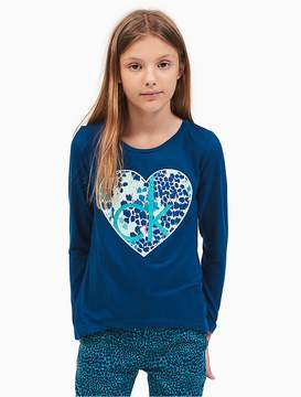 Calvin Klein Jeans Girls Heart Logo T-Shirt