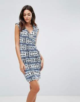 B.young Gather Side Printed Dress
