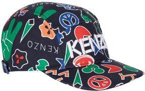 Kenzo Emoji Print Baseball Cap