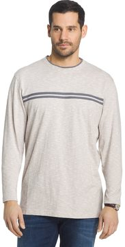 Arrow Men's Classic-Fit Chest-Striped Mock-Layer Crewneck Sweatshirt