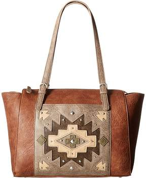 American West Earth Bound Zip Top Tote Tote Handbags