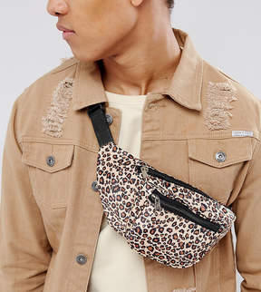 Reclaimed Vintage Inspired Fanny Pack In Leopard Print