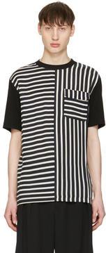 McQ Blue Striped River T-Shirt