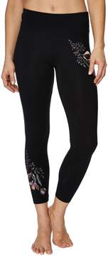 Betsey Johnson FLORAL EMBROIDERED LEGGING