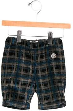 Roberto Cavalli Boys' Velvet Plaid Shorts w/ Tags
