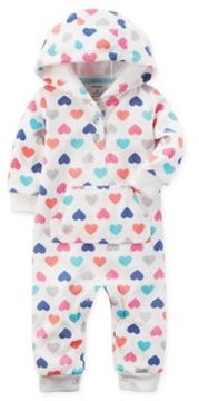Baby Starters carter's® Size 18M Multicolor Hearts Romper in Ivory
