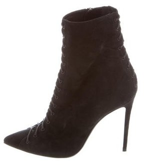 Barbara Bui Suede Lace-Up Ankle Boots