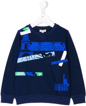 Kenzo multi print sweatshirt
