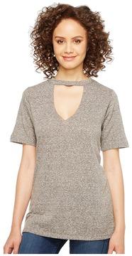 Culture Phit Fern Short Sleeve Keyhole Tee Women's T Shirt