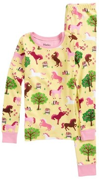 Hatley Toddler Girl's Pony Orchard Fitted Two-Piece Pajamas