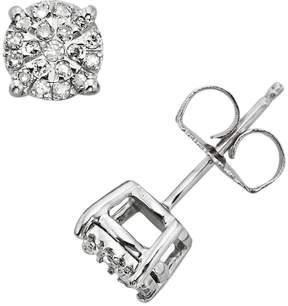 Brilliance+ Diamond Brilliance Sterling Silver 1/4-ct. T.W. Diamond Stud Earrings