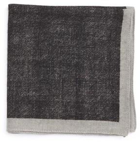 BOSS Men's Solid Wool Pocket Square