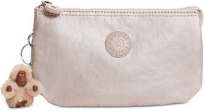 Kipling Creativity Metallic Small Pouch - CLOUD GREY METALLIC - STYLE
