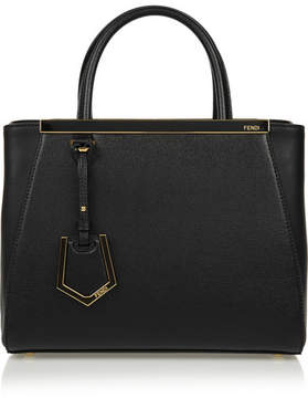 Fendi - 2jours Small Textured-leather Shopper - Black